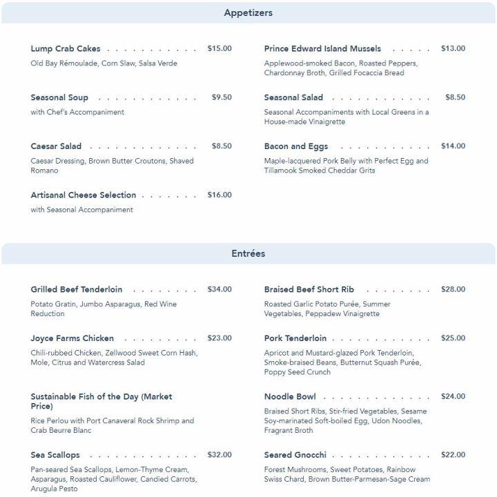 wave menu